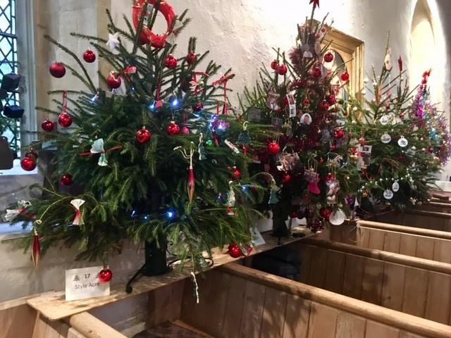 Christmas tree festival, East Hagbourne