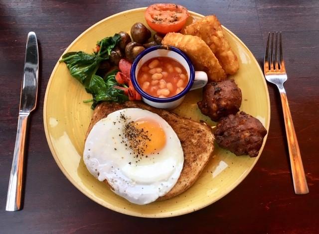 Vegetarian breakfast, Berro Lounge, Didcot