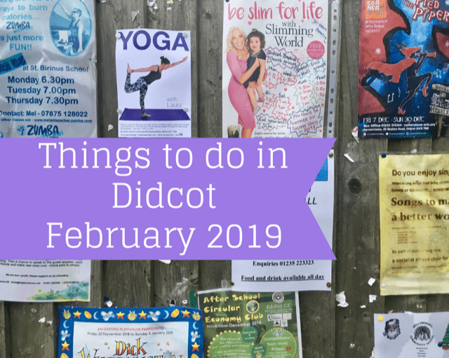 Things to do in Didcot in February 2019