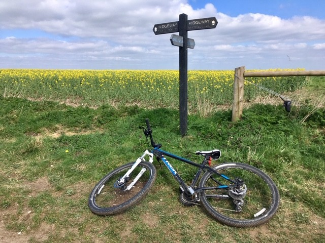 Taking a break on the Ridgeway, top of East Hendred Down