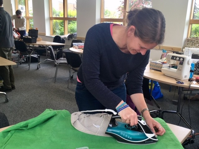 Ironing a repair, Sustainable Didcot repair cafe