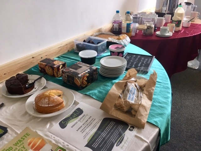 Refreshments at Sustainable Didcot repair cafe