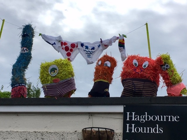 Aliens love underpants, East Hagbourne scarecrow trail