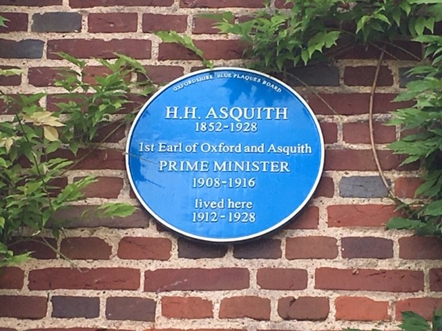 H.H. Asquith blue plaque, Sutton Courtenay