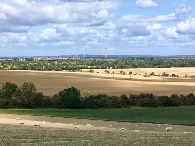 Didcot, from Blewbury chalk pits