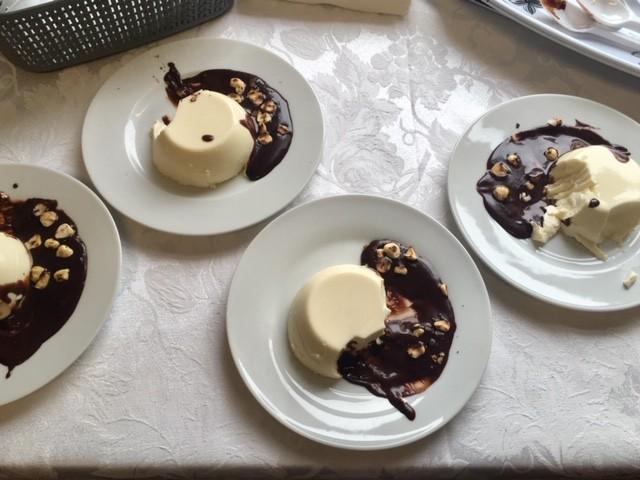 Bill Buckley's panna cotta and chocolate sauce