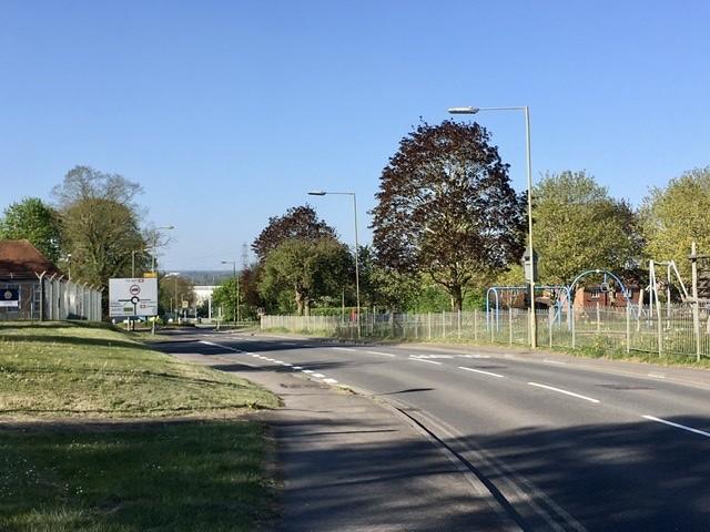 Rush hour on Foxhall Road during the coronavirus pandemic