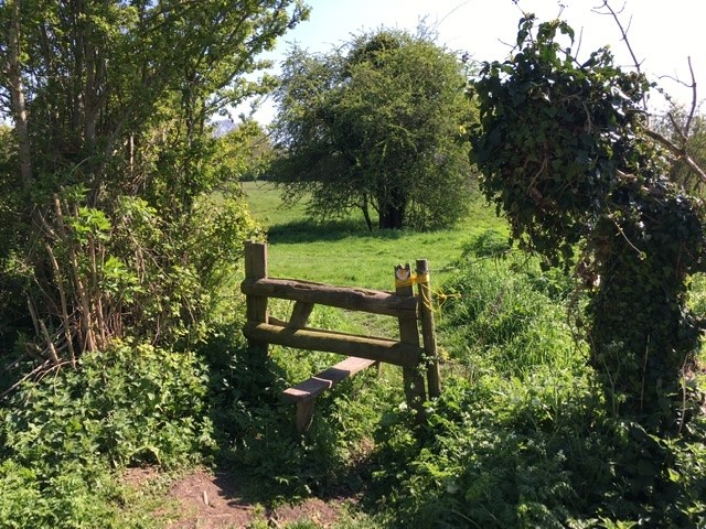 Stile from West Hagbourne Moor