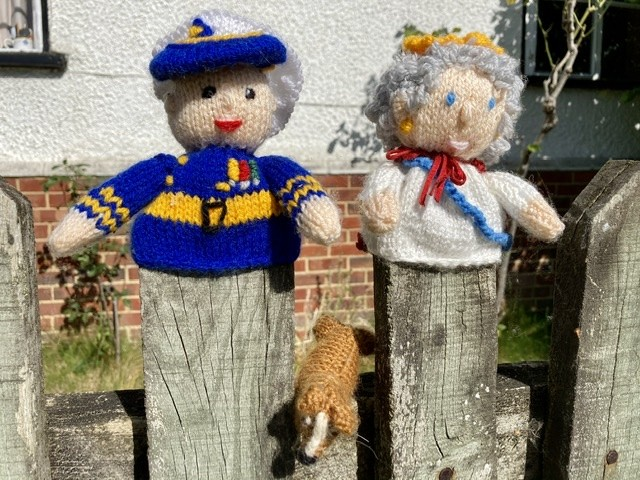 Knitted figures, East Hendred