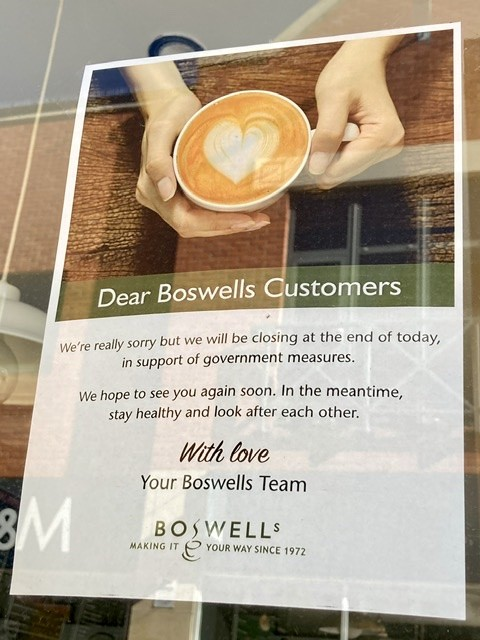 Boswells cafe sign, Didcot
