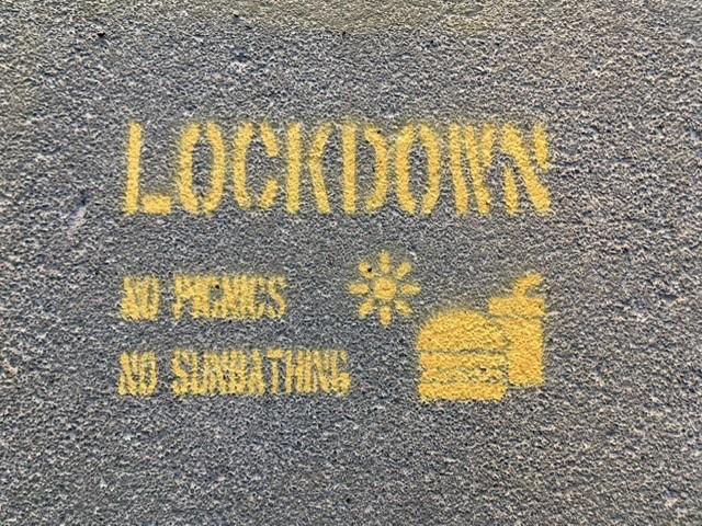 Lockdown in the parks