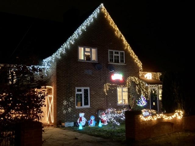 Sinodun Road Christmas lights, Didcot