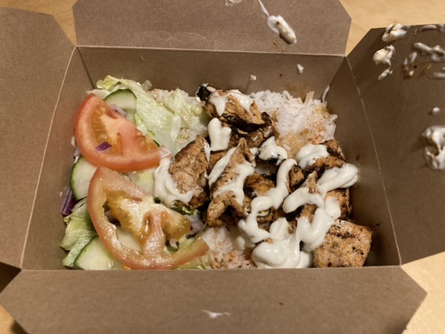 Chicken shish with rice, Caesar's Grill, Didcot