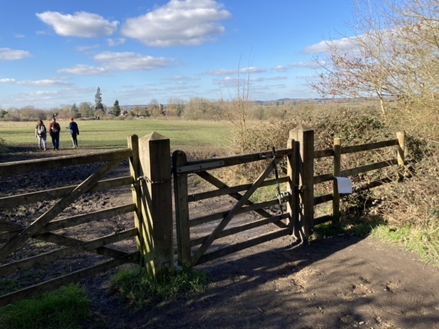 Exiting Little Wittenham Wood