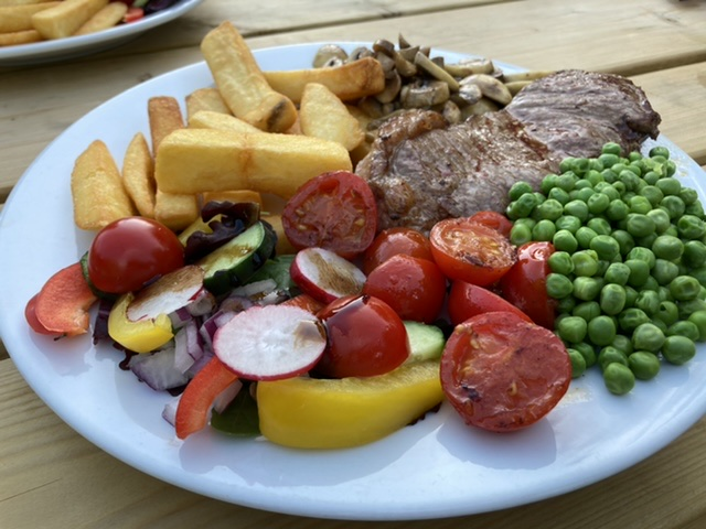 Steak, Bear Inn, North Moreton