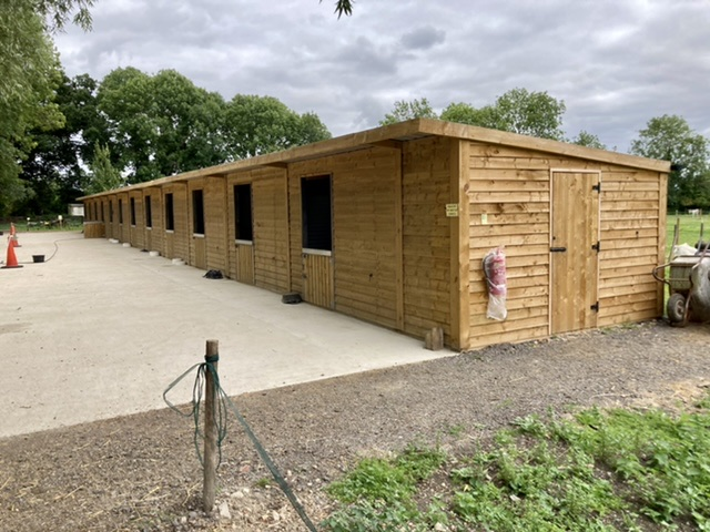 New stables at Island Farm Donkey Sanctuary