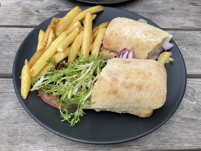 Toasted ciabatta, The Crown at South Moreton